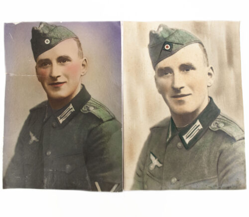 Wehrmacht (Heer) Two large color portraitphoto's (35 x 25 cm)