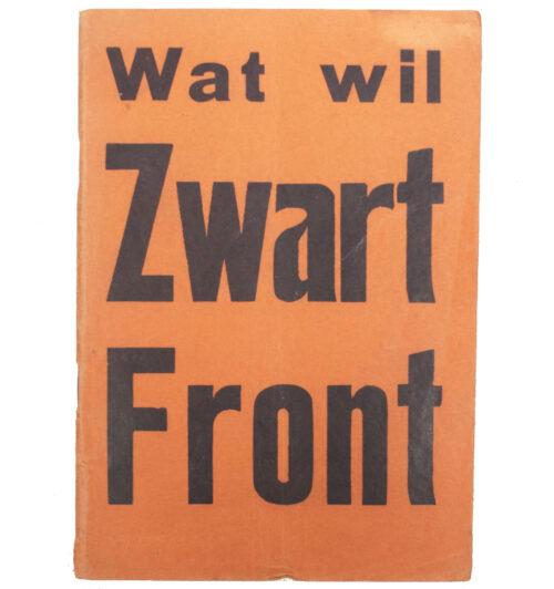 (brochure) Wat wil Zwart Front (1935)