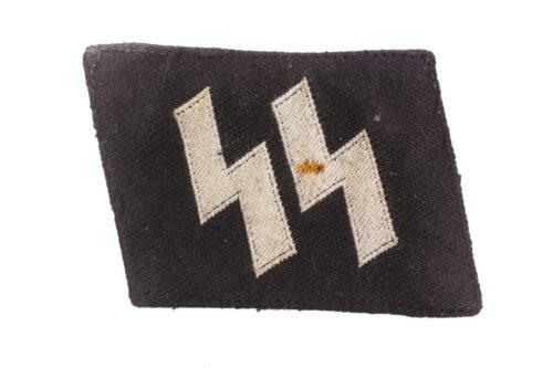 Uniform removed Waffen-SS runic collar tab