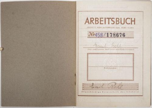 Arbeitsbuch THIRD TYPE (!) from Arbeitsamts Litzmannstadt