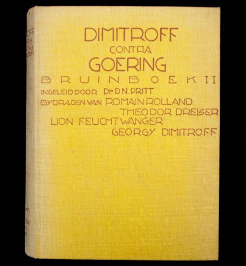 (Book) Dimitroff contra Goering. Bruinboek II. Onthullingen over de werkelijke brandstichters van den Rijksdag (1934)