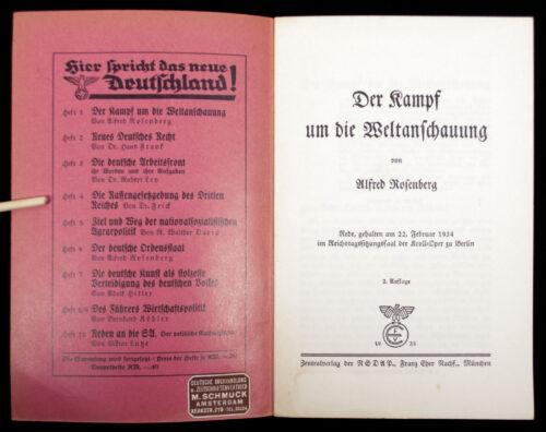 (Brochure) Alfred Rosenberg - Der Kampf um die Weltanschauung (1935)