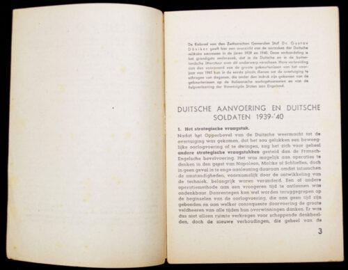 (Brochure) Duitsche aanvoering en Duitsche Soldaten 1939-1940 (1940)