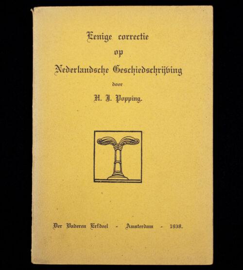 (Brochure NSB) Der Vaderen Erfdeel – Eenige correctie op Nederlansche Geschiedschrijving (1938)