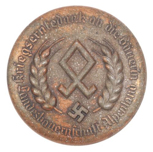 (Brooch) Reichsnährstand Landesbauernschaft Alpenland - Kriegserntedank an die Bäuerin