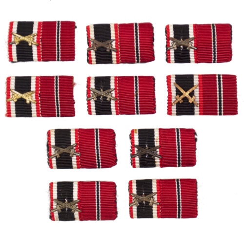 Double ribbonbar with War Merit Cross (Kriegsverdienstkreuz) and Ostmedaille