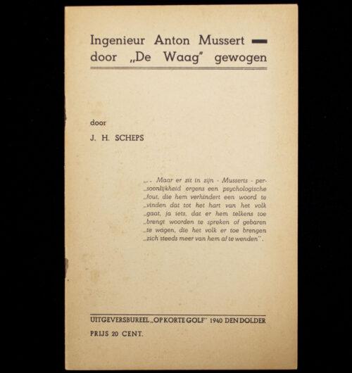 Ingenieur Anton Mussert door de Waag gewogen