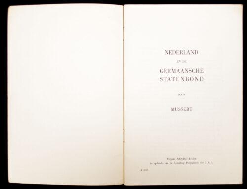 (NSB) A. Mussert - Nederland en de Germaansche Statenbond