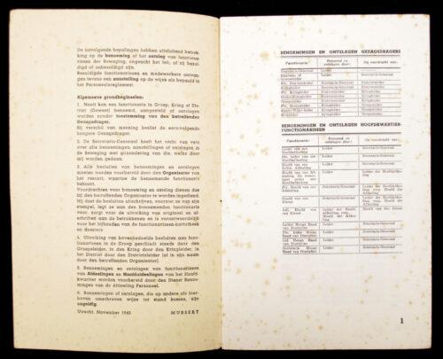 (NSB) Benoemingen en ontslagen der functionarissen van de Nationaal-socialistische Beweging in de Nederlanden (1942)