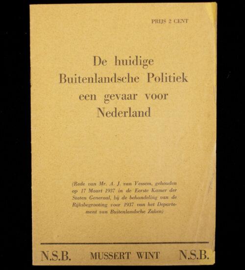 (NSB) De huidige buitenlandsche politiek een gevaar voor Nederland (1937)