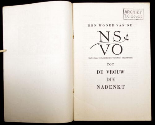 (NSB) Een woord van de NSVO tot de vrouw die nadenkt