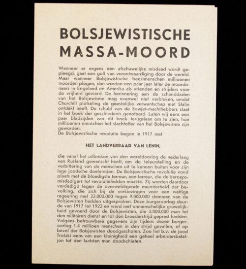 (NSB) Flyer Bolsjewistische Massamoord