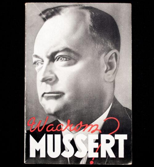 (NSB) Freek de Jager - Waarom Mussert (1941)