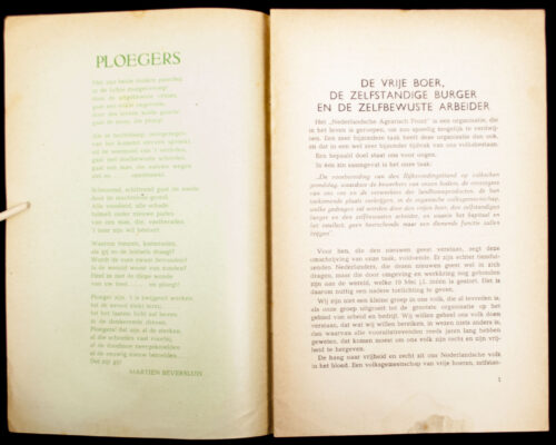 (NSB) Het Nederlandsch Agrarisch Front (1940) 1st edition