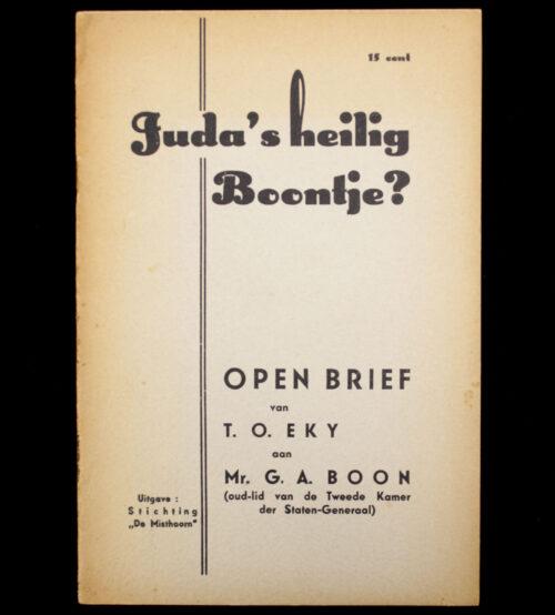 (NSB) Juda's heilig boontje Open brief van T.O. Eky aan Mr. G.A. Boon (oud-lid van de Tweede Kamer der Staten-Generaal) (1939)