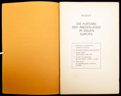 (NSB) Mussert - Die Aufgabe der Niederlande im neuen Europa (1940)