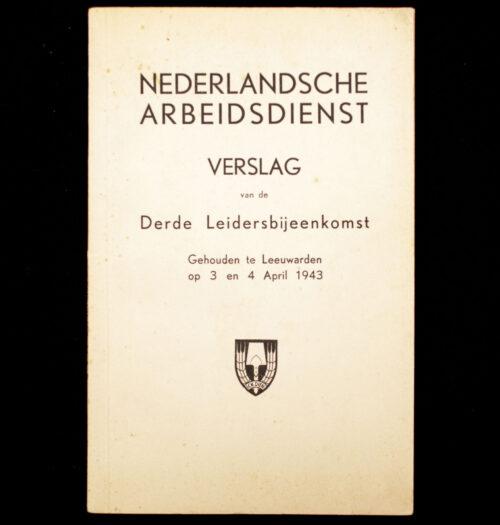 (NSB NAD) Nederlandsche Arbeidsdienst Verslag van de derde leidersbijeenkomst gehouden te Leeuwarden (1943)