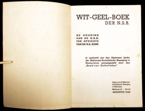 (NSB) Wit-Geel boek der N.S.B - de houding van de NSB ten opzicht vd R.K. kerk (1936)