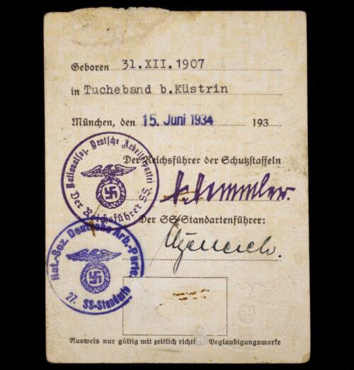 Schutzstaffeln der N.S.D.A.P. SS-Ausweiss with Passphoto