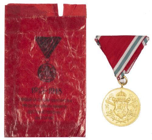 WWI Romanian Commemorative Medal with original rare enveloppe